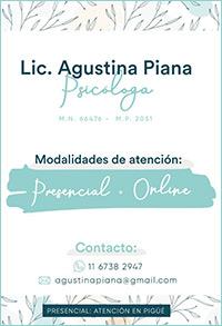 Lic. Agustina Piana