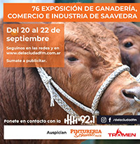 Cobertura Exposición Rural de Saavedra