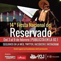 Cobertura de la Fiesta Nacional del Reservado