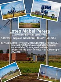 Loteo Mabel Perera